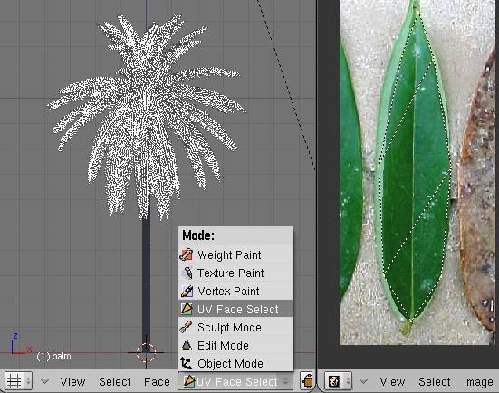 UV Face Select + Image Editor