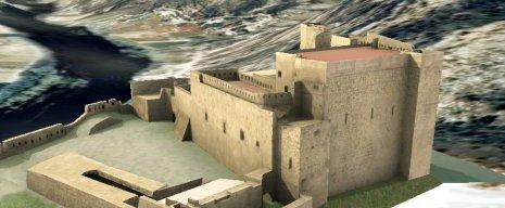 Castell de Miravet en Google Earth
